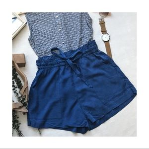 Paper Bag High Waisted Tie-Up Shorts